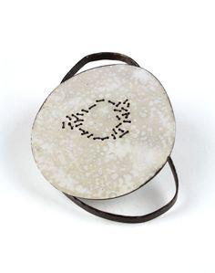 Satomi Kawai Brooch: Transforming 1, 2013 Steel, pigment, cotton thread, sterling silver, stainless steel pin W 6.5 x H 8.5 x D 2.0 cm Femininity II series Satomi Kawai. © By the author. Read Klimt02.net Copyright .