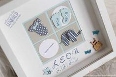 Newborn Baby Rahmen Welcome to the world Geschenk zur Geburt Taufe (Diy Box Frame)