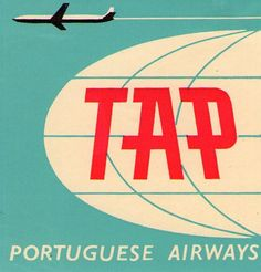 TAP PORTUGAL AIRLINES LUGGAGE LABEL