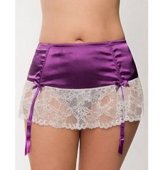 LANE BRYANT SERIOUSLY SEXY SATIN & LACE GARTER SKIRT - PLUS SIZE 26/28 #Cacique