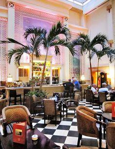 Hotel Saratoga's Bar Mezzanine.  From $246/night; see hotel-saratoga.com.