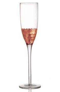 American Atelier 'Daphne' Champagne Flutes (Set of Wedding Champagne Flutes, Champagne Glasses, The Skinny Confidential, Serveware, Tableware, Copper Decor, Copper Wedding, Toasting Flutes, Apt Ideas