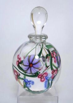 art glass perfume bottle by nadine