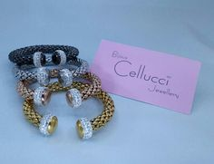 Fashion bracelets available in 4 tones: Cellucci Jewellery collection♡♡