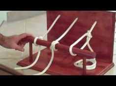 ▶ Building A Practice Knot Tying Station - YouTube