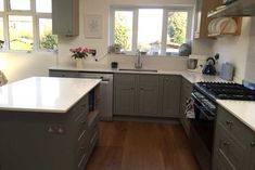 An Innova Harewood Lamp Room Grey Inframe Kitchen