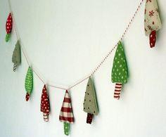 Fabric Christmas Trees GarlandFrom kirstyelson