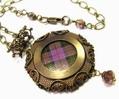 Vintage Tartan Necklace