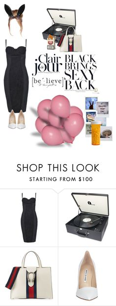 """good things ain't comin"" by libibanili on Polyvore featuring Dolce&Gabbana, Gucci, Manolo Blahnik, Topshop and Polaroid"