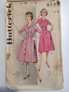 Original Vintage Butterick coat dress size 18 by MizjaynesEmpireroom