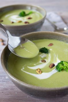 This smooth and creamy broccoli pistachio soup is a perfect way to load up on vitamin C. Great for a quick lunch or as a starter course.