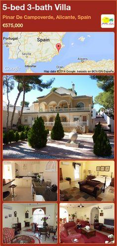 5-bed 3-bath Villa for Sale in Pinar De Campoverde, Alicante, Spain ►€575,000