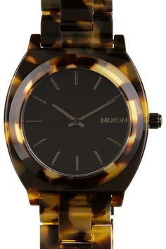 Pair your outfit with this classic timepiece from Nixon. This chunky style Nixon watch features tortoiseshell acetate, scratch resistant crystal glass. Tortoise Shell Watch, Recycle Your Wedding, Kate Spade Watch, Belly Rings, Cool Watches, Look Fashion, Michael Kors Watch, Everyday Fashion, Bling