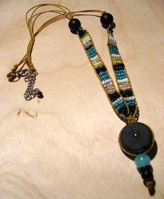 beads crochet necklace.