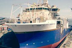 Première mise à l'eau d'un navire entièrement construit au chantier Davie Fair Grounds, Ship, Water