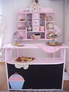 in der Zuckerbäckerei.. shabby Kaufladen, Bäckerei mit Zubehör, Haba, vintage | eBay