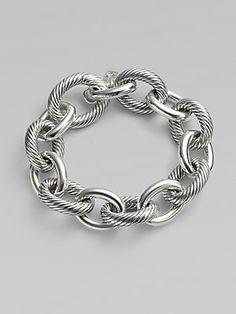 My next purchase... David Yurman Sterling Silver XX Large Oval Link Chain Bracelet