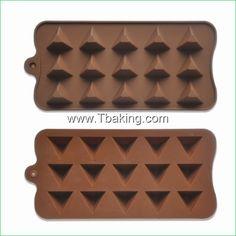 Encontre mais Forma de bolo Informações sobre Tc New pirâmide Chocolate Candy Mold Mold bandeja Ice, de alta qualidade Forma de bolo de Cake Tools Supplier em Aliexpress.com