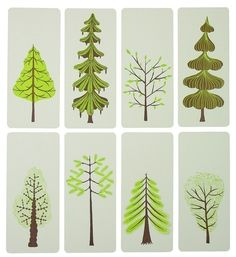 Spring Trees letterpress cards