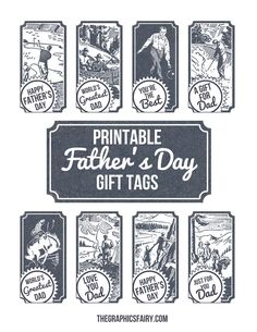 Free Printable Father's Day Gift Tags! by Emily for The Graphics Fairy