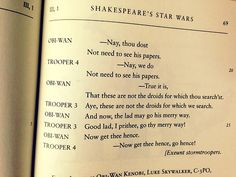 Shakespeare's Star Wars. I love this.