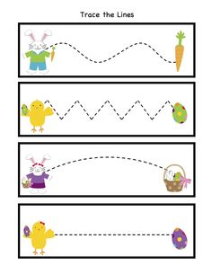 Easter Trace the Lines | Crafts and Worksheets for Preschool,Toddler and Kindergarten