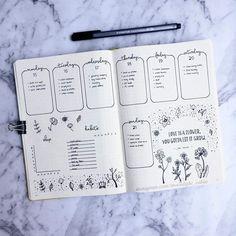 Beautiful weekly spread layout