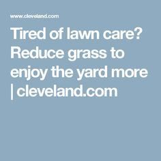 Tired of lawn care? Reduce grass to enjoy the yard more | cleveland.com