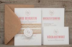 Einladungskarten - Musterkartenset Vintage-Einladung mit Spitze - ein Designerstück von schneidersfamilybusiness bei DaWanda