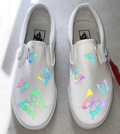 Painted Canvas Shoes, Custom Painted Shoes, Painted Vans, Painted Sneakers, Custom Shoes, Custom Slip On Vans, Vans Slip On, Vans Shoes Fashion, Nike Fashion