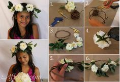 How to make a floral crown   DIY Floral Crown   Flower Crown for Brides, Bridesmaids, and Flower Girls   Easy Floral Crown with Silk Flowers #diyflowercrown #diyfloralcrown