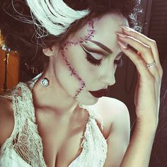 Bride of Frankenstein makeup | @desimakeup