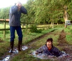 The Vicar of Dibley Puddle scene British Tv Comedies, British Comedy, British Humour, Vicar Of Dibley, Dawn French, Vicars, Michael Palin, Comedy Tv, Tv Times