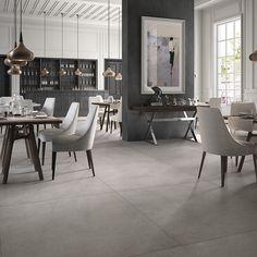 XL Stone Grey 120x120 XL STONE 120x120 cms, generoso formato italiano. 4 colores neutros de piedra natural con ligeras vetas blancas.