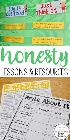 Honesty lesson plans and suggestions for activities and picture books. Teach your students why honesty is important. Character education in the classroom. Reading, writing, and discussing character education and honesty in the classroom. Social Emotional Learning, Social Skills, Honesty Lesson, Motivational Quotes For Teachers, Character Education Lessons, Classroom Behavior, Classroom Ideas, School Social Work, Bible Lessons For Kids