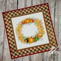 All Personal Feeds Art Impressions Stamps, Fall Harvest, Clay Pots, Wreaths, Frame, Cards, Picture Frame, Autumn Harvest, Door Wreaths