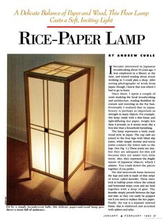 Rice Paper lamp (PDF) tutorial