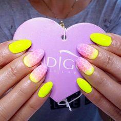 by Agata Kaczmarek Indigo Young Team  :) Follow us on Pinterest. Find more inspiration at www.indigo-nails.com #nailart #nails #indigo #violet #skinsnake #neon #yellow