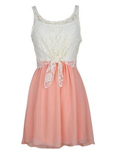 Girly: Lace Tie-Front Dress