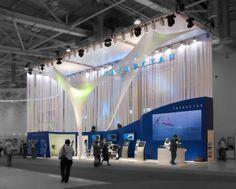 Exhibition stand Tatarstan. ExpoForce.ru by ivan fomin, via Behance