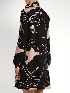 Valentino Panther-print mini dress