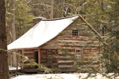 Cabin in the Snow   Great Smokey Mtns