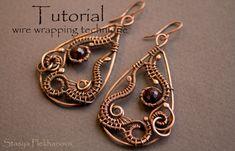 Wire Wrap Tutorial Wire Wrapped Earrings Level by StasyaWireWrap, $7.00