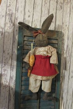 Primitive Grungy Olde Easter Bunny  Rabbit Ang #NaivePrimitive #Myself