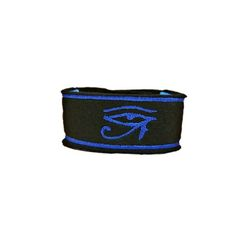 Osiris Cuff Bracelet A wide Statement Cuff Bracelet Let the cuff do the talk ing This Piece bares The eye of horus in Bright blue on black with Blue Outline edges Cuff measures Approx 5 inches by 1 inch Extends with fastening upto 9 inches #jewellery #SS17 #Mensfashion #style #trends