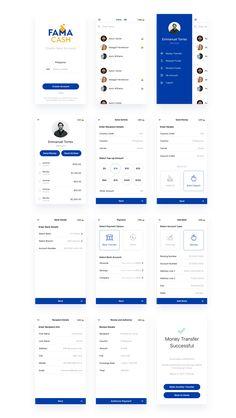 banking layout Famacash (Web/Mobile App) on Behance Android App Design, App Ui Design, Android Ui, Ux Design Principles, Dashboard App, Mobile Ui Patterns, App Design Inspiration, Mobile Ui Design, Mobile App Ui