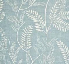 Chiara Sky Blue hand printed on Natural Linen Motifs Textiles, Textile Fabrics, Textile Patterns, Textile Design, Print Patterns, Shape Design, Pattern Design, Curtain Material, Art Folder