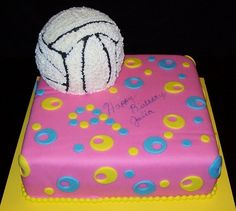 volleyball cakes | volleyball birthday volleyball birthday cake Volleyball Birthday Cakes, Birthday Cake Girls, Cupcake Cakes, Cupcakes, Deserts, Birthdays, Cake Ideas, Sports, Graduation