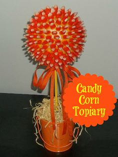 Craft Envy.  Candy Corn topiary
