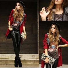 Love this rock chick look